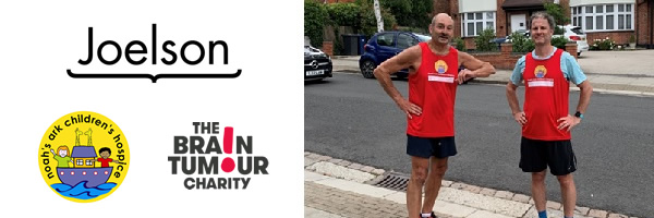 Sheldon runs 6.5 miles for his 65th, for The Brain Tumour Charity & Noah's Ark Children's Hospice
